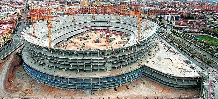 Estadio Nou Mestalla, es el Nuevo estadio del Valencia FC Nou-mestalla-obras-paralizadas