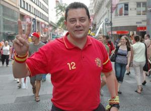 Tomas Roncero con la camiseta de la selección española